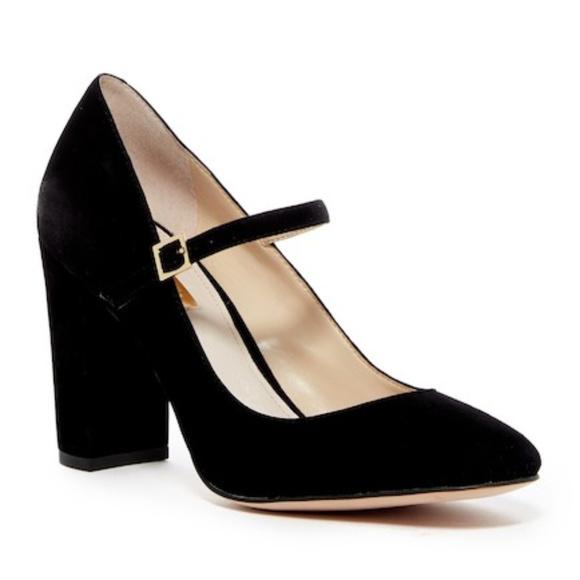 0228a70e088c Louise et Cie Shoes - Louise et Cie Black Suede Jayde Mary Jane Pumps